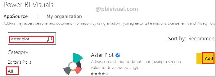 Aster Plot - Import visual