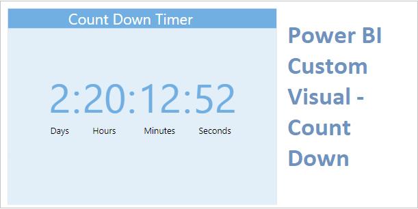 Count Down Custom Visual