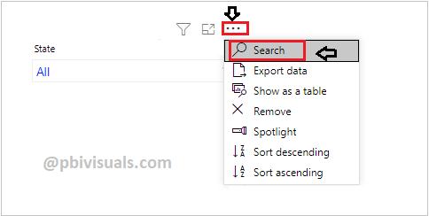 Enable search box for slicer