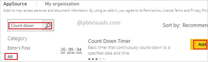 Import Countdown Visual