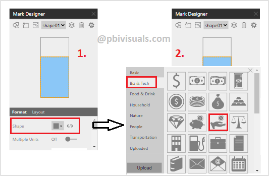 Infographic designer chart-shapes