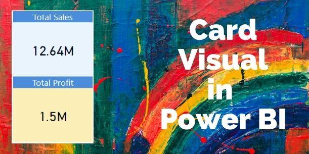 Card visual in Power BI