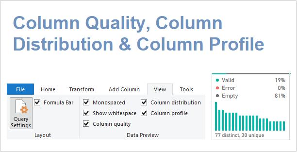 Column Quality Column Profile