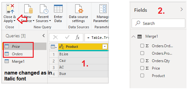 Enable Load in Power Query