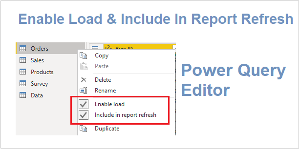 Power Query Editor feature