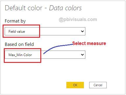 Select measure for data colors