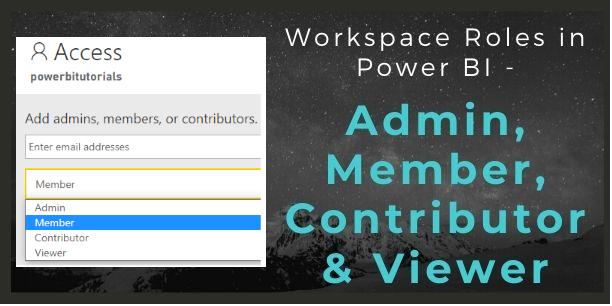 Workspace roles in Power BI
