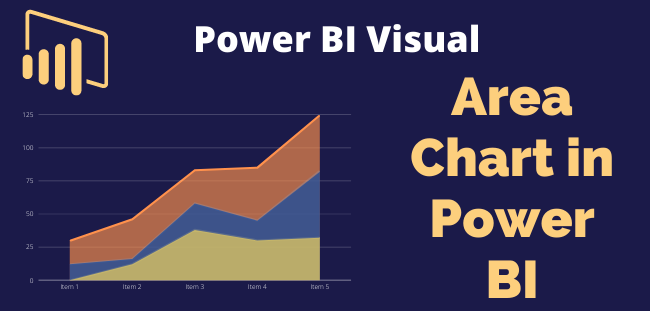 Area chart visual in Power BI