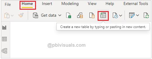 Create a Table Power BI