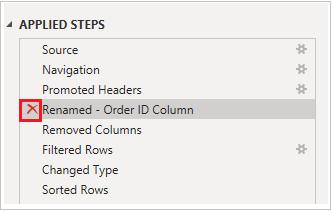 Delete applied steps