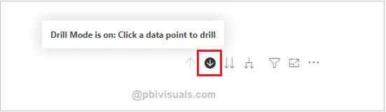 Enable drill mode in Power BI