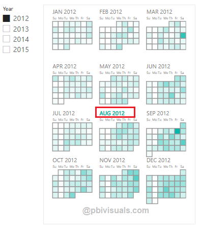 Month wise calendar