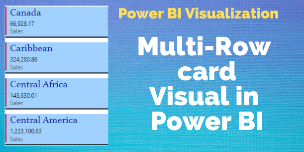 Multi Row card Power BI visual