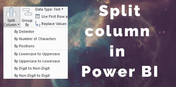 Split column Power BI